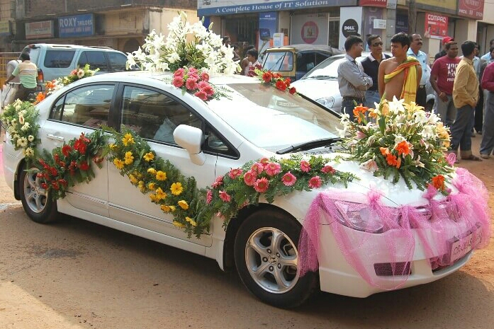 flower car decoration in kanpur