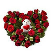Valentin day flower cake delivery in kanpur