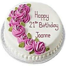 25th Birthday flower cake gift greeting card delivery in kanpur