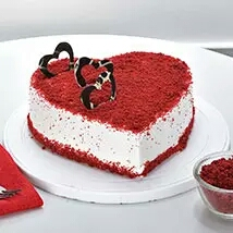 Valentin day greeting card cake delivery in kanpur