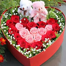 Valentin day cake flower delivery in kanpur