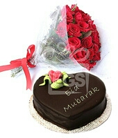 Loveley mothers day cake flower send to kanpur